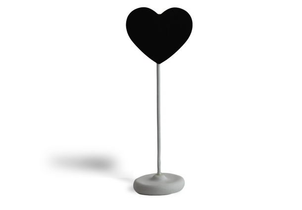 Heart chalk board on stand - 2 per pack