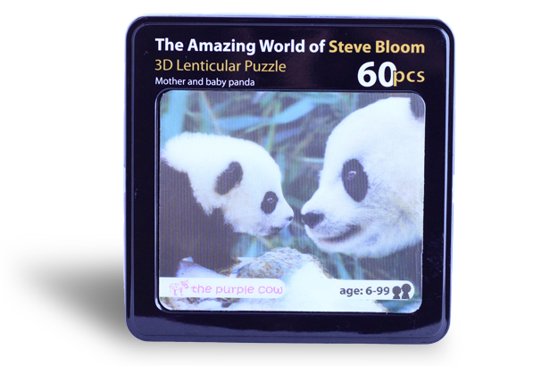 3D Lenticular Puzzle, Mother & Baby Panda
