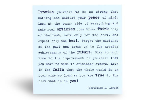 Quotable Magnet - Promise Yourself …