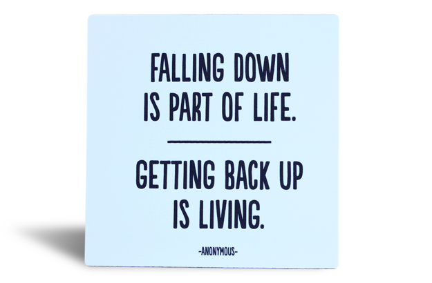 Quotable Magnets - Falling Down is Part of Life…