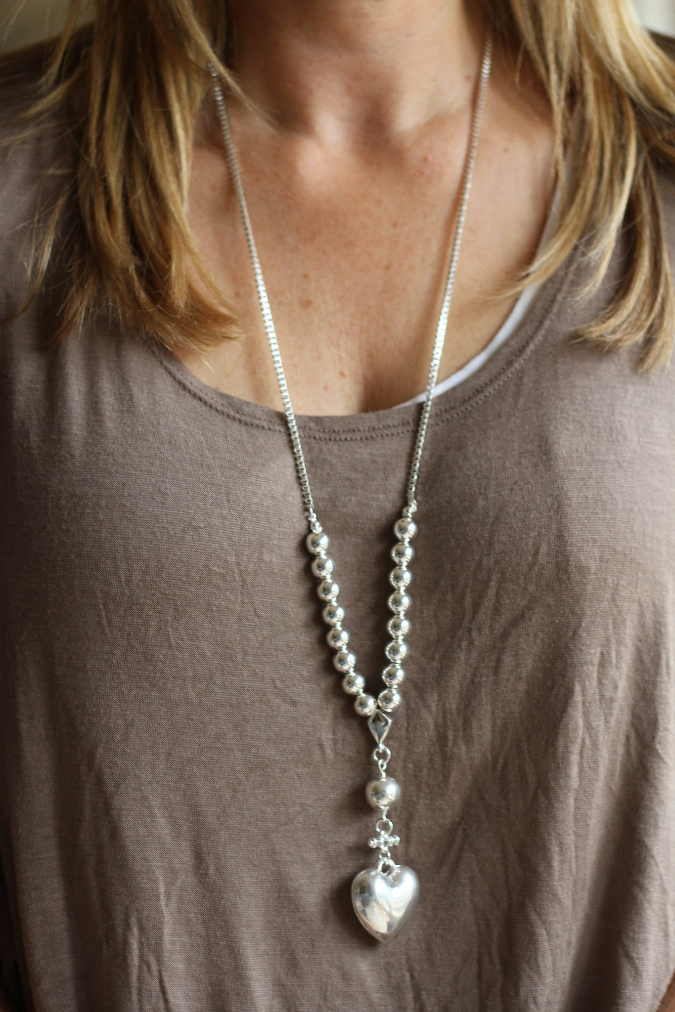 Relaxation necklace - Silver Box Chain