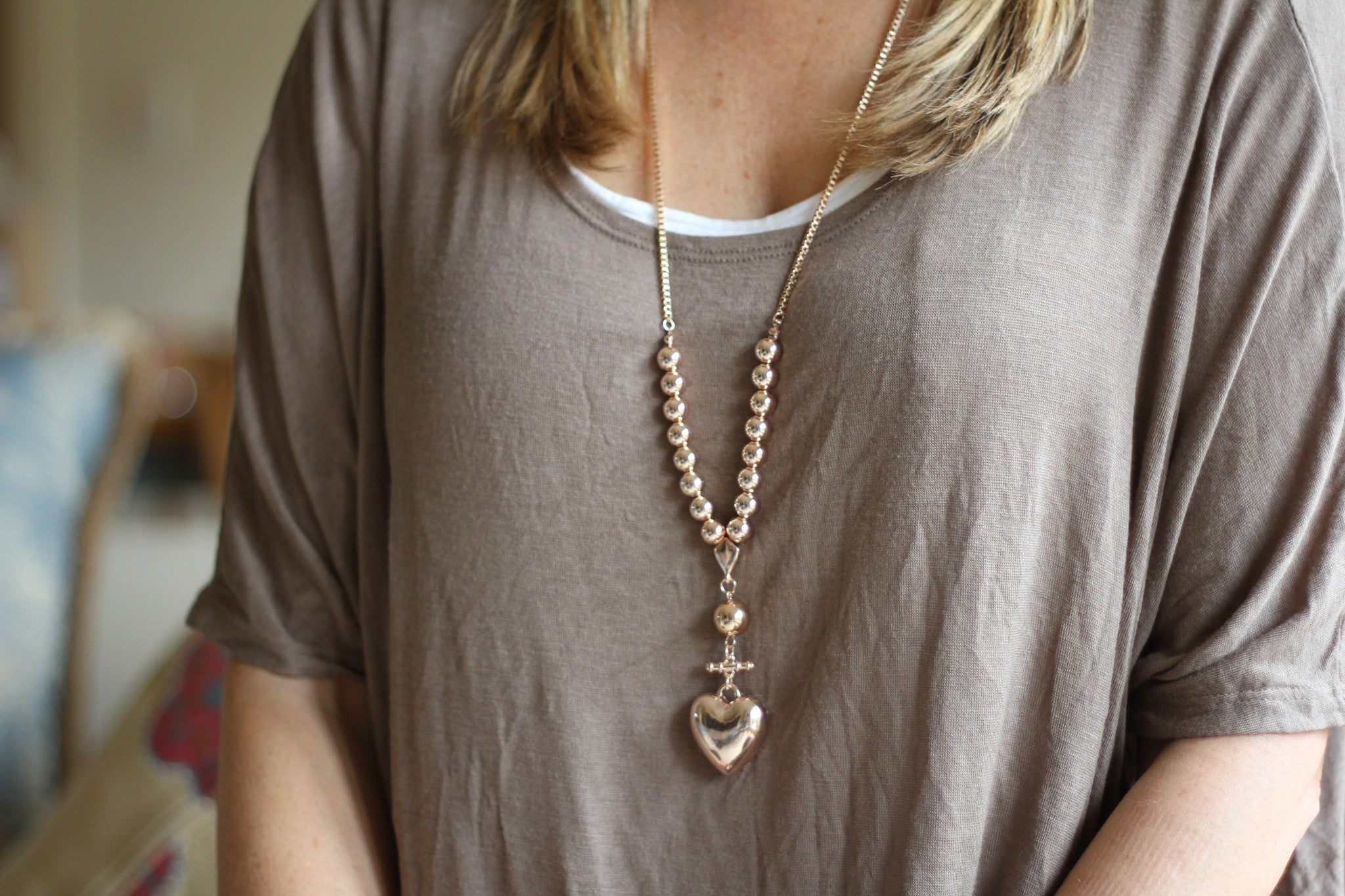 Relaxation Necklace - Rose Gold Box Chain