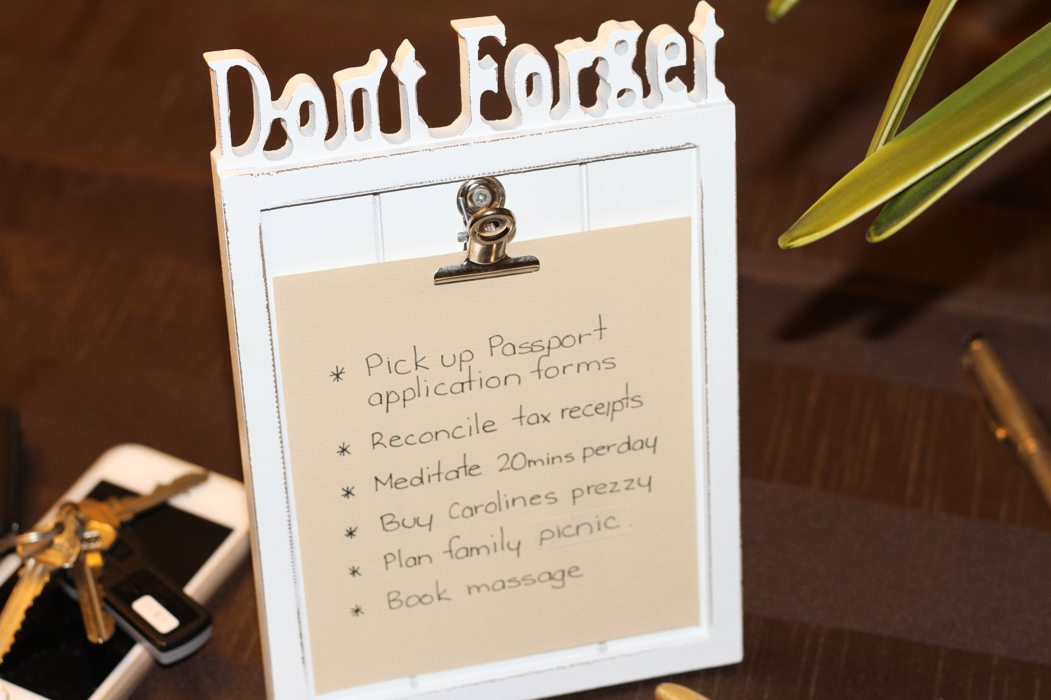 Don't Forget - notice board