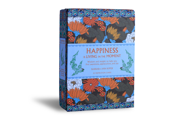 Inspirational Cards - Happiness is Living in The Moment