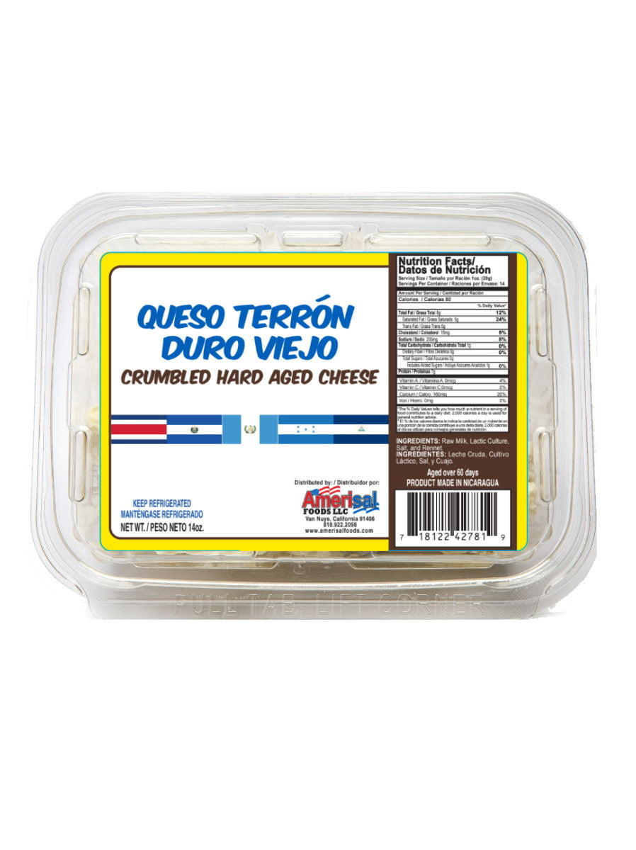 Queso Terron Duro Viejo Amerisal (Crumbled Hard Aged Cheese)