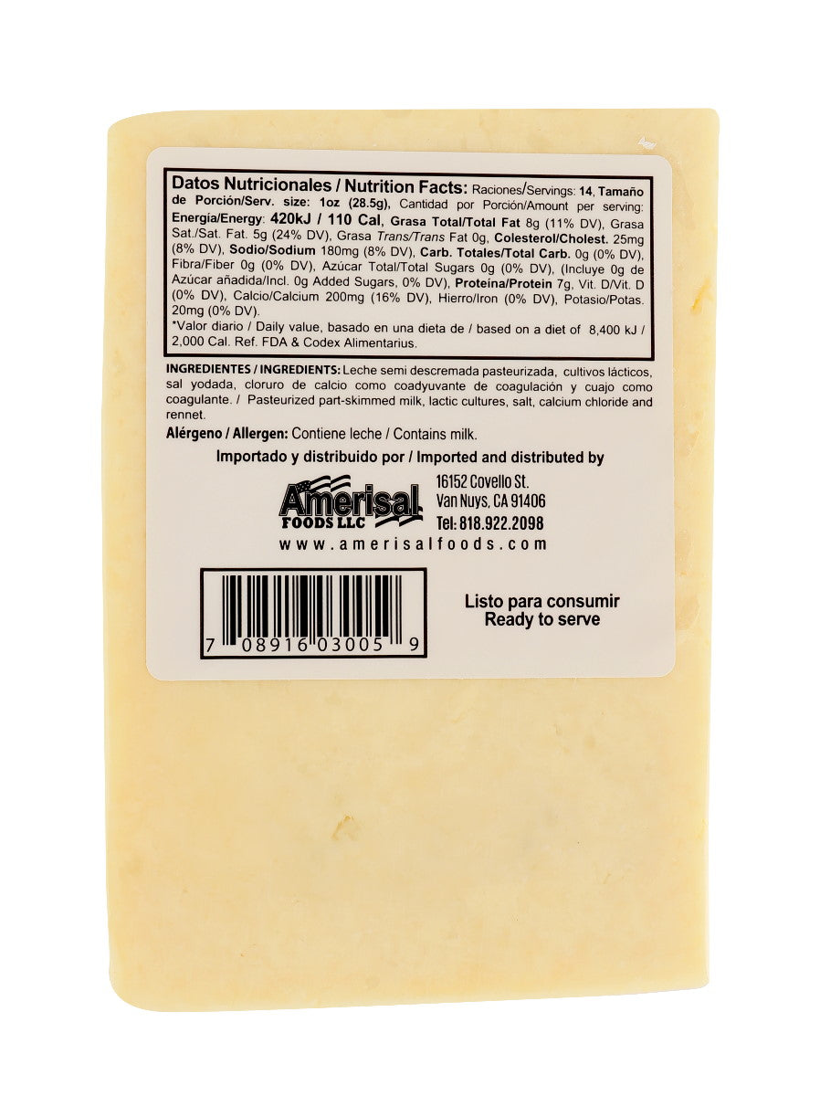 San Julian Semi Soft Cheese (Queso Duro Blando)