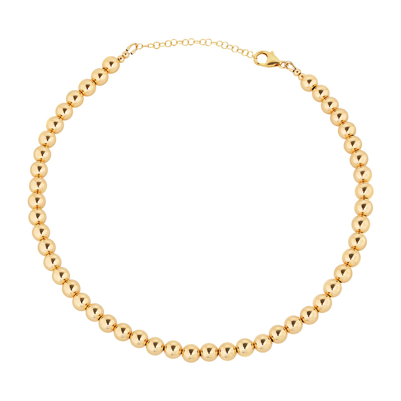 7 MM Gold Filled Beaded Necklace