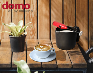 Non-stick pot with milk frother - Ethno