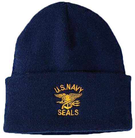 BPE-USA Decorated Beanie U.S. Navy Seals