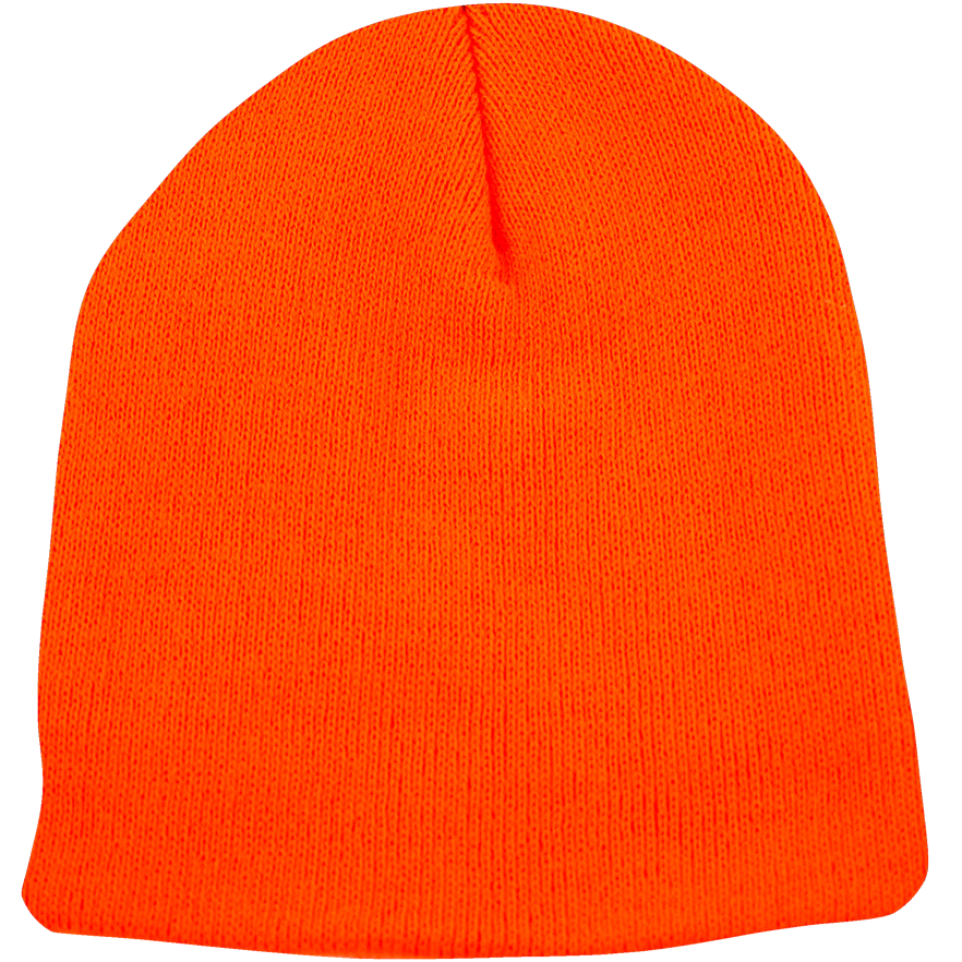 BPE-USA Classic Beanie Safety Orange