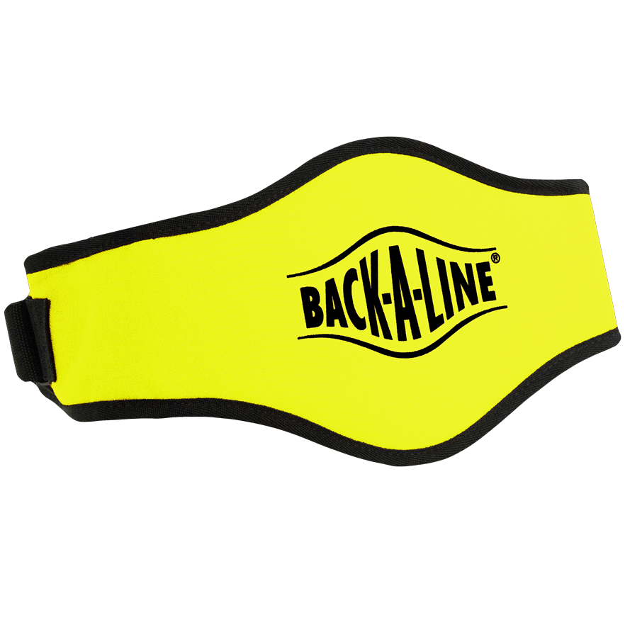 BPE-USA Back-A-Line Back Support Belt Black On Yellow