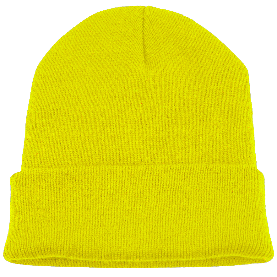 BPE-USA Cuff Beanie Safety Yellow