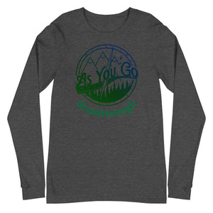 "As You Go Lifestyle Brand Encouraging and Inspiring ""Breakthrough"" Long Sleeve Tee"