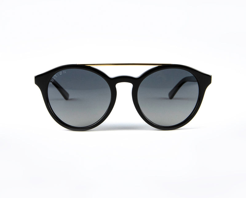 Black Round Mens Luxury Polarised Sunglasses
