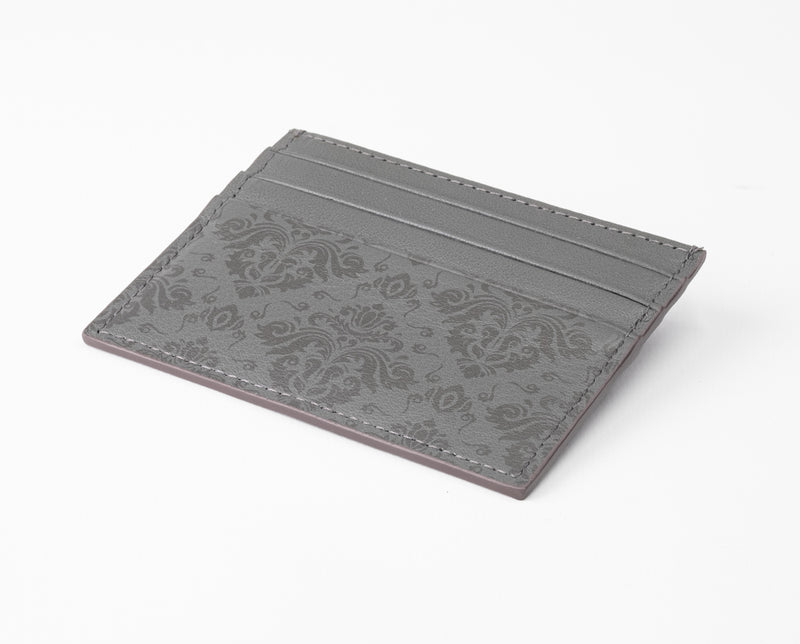 Leather Card Holder - Grey