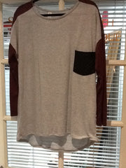 Grey/Wine Tunic