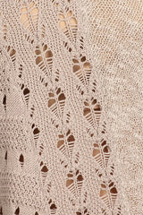 Cream Crochet Knit Top - AS IS damaged