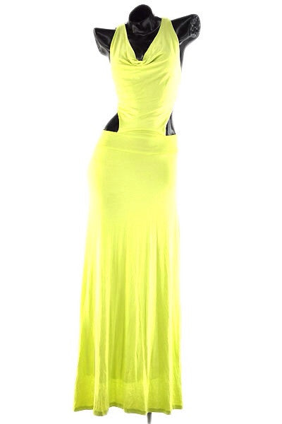 Open-Side Maxi Dress