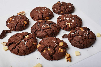 Chocolate and Walnut Cookies