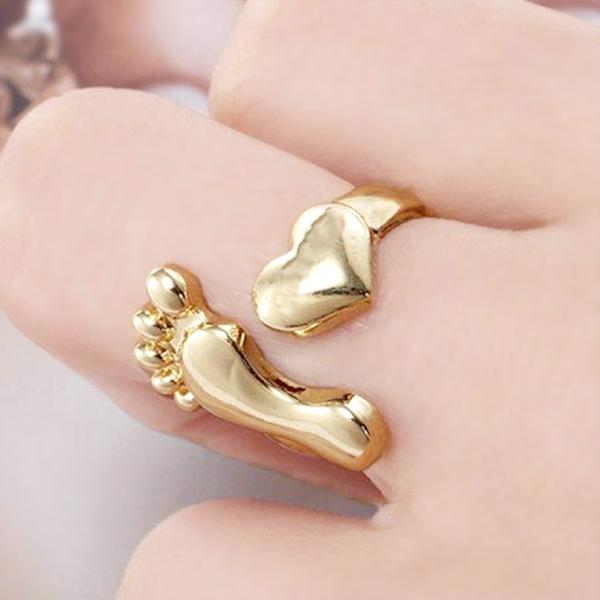 Foot Shape Rings(Size Adjustable)