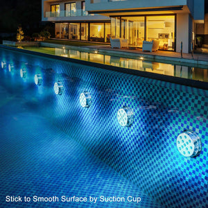 💥ONLY $6.99 PER PIECE💥Submersible LED Pool Lights Remote Control (RF)