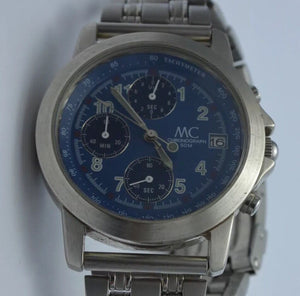 MC Chronograph - Herrenuhr / Quarz / Edelstahl - Goldmax24