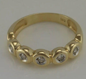 Ring miit ca, 0.15 ct. Brillanten / Bicolor / 585er 14 Karat Gold - Goldmax24
