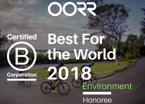 PRESS RELEASE: OORR Honored as Best For Environment BCorp