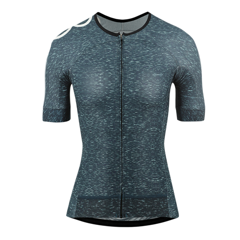 Women's OORR Cafe Pro Cycling Jersey Teal Denim
