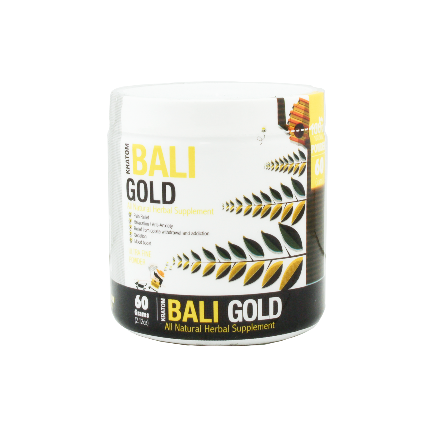 Bumble Bee Bali gold Kratom (Powder) at Kratom Mood