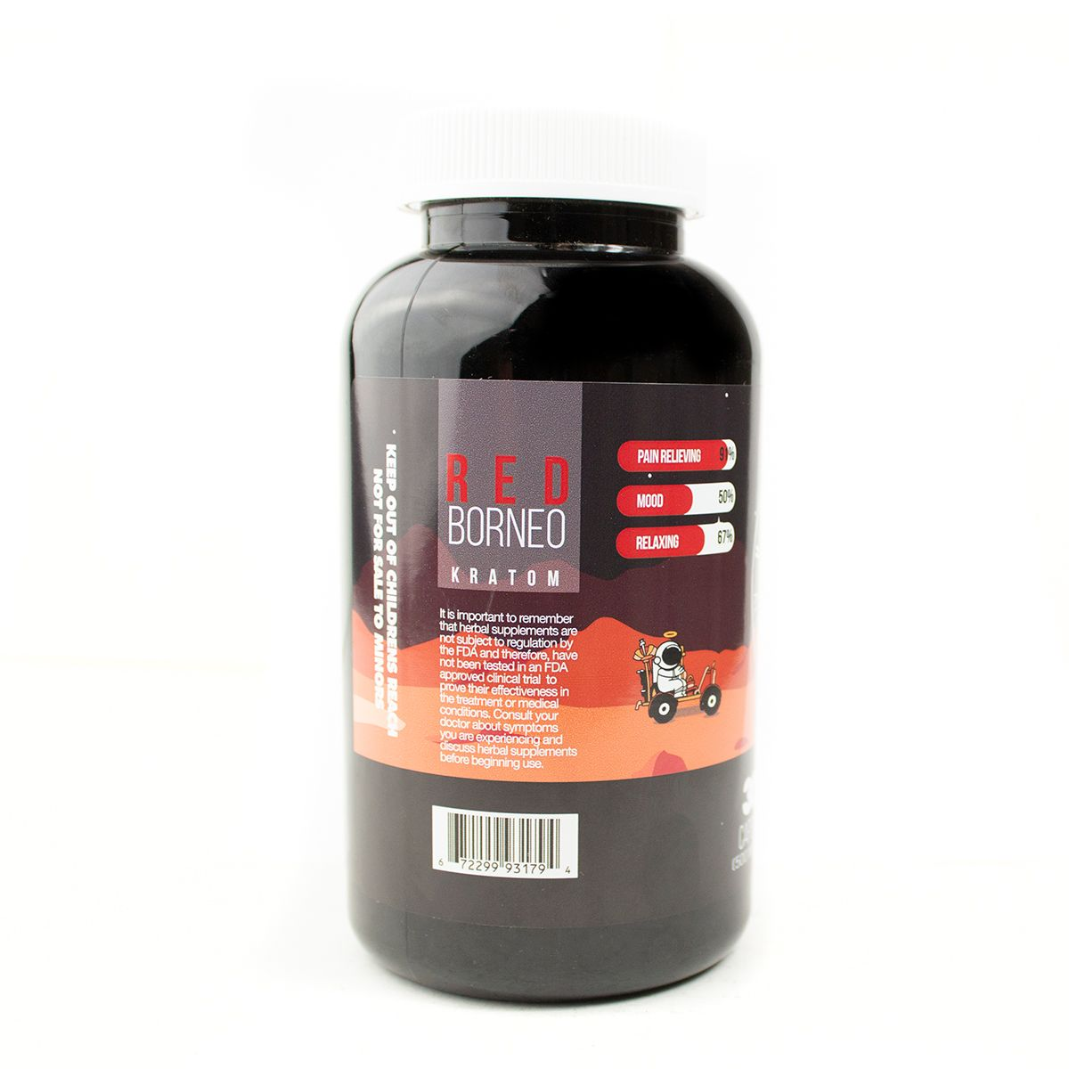 Halo Kratom Red-Borneo (Capsules) at Kratom Mood