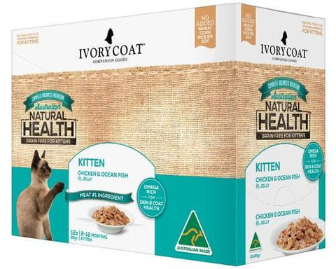 Ivory Coat Kitten Chicken & Ocean Fish Jelly 12 x 85g | Pet Food Leaders