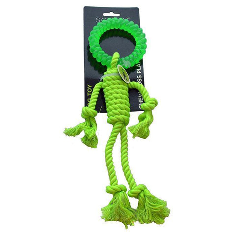 Scream ROPE MAN w/TPR HEAD 30cm Loud Green