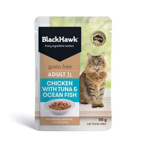 Black Hawk Grain Free Tuna & Ocean Fish Adult 12 x 85g