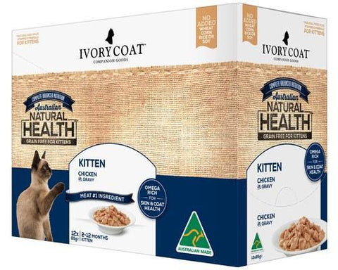 Ivory Coat Kitten Chicken Gravy 12 x 85g | Pet Food Leaders