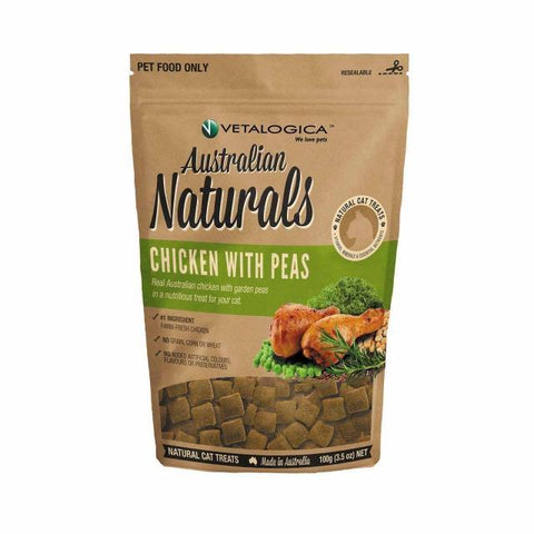 Australian Naturals Chicken with Peas Treats for Cats 100g - Pet Food Leaders