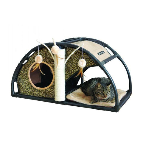ZEEZ FELINE ARCH FUN HOUSE 81 x 40 x 40cm - 53-Z03603 | Pet Food Leaders