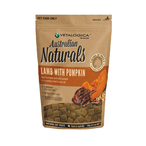 Australian Naturals Lamb with Pumpkin Treats for Cats 100g - Pet Food Leaders