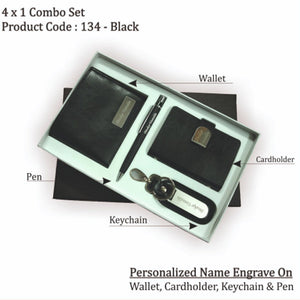 Personalized Wallet, Key chain, Pen & Cardholder Set