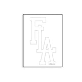 "FLA Copalivin Vinyl Decal 7"" - White"