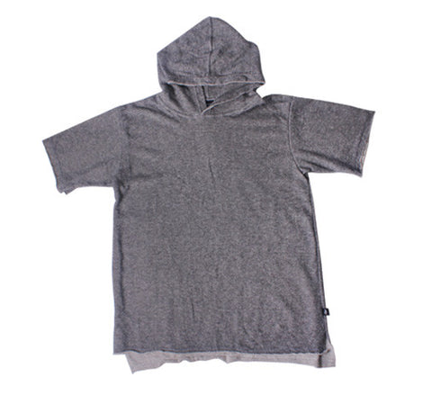 Madray Terry Short Sleeve Hoodie - Ash