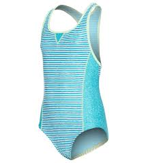 Speedo Girl's Blocked 1 Piece