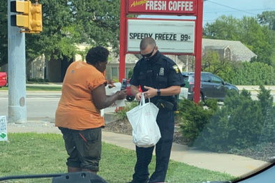 Toledo Police officer buys Chick-fil-A for woman in need.