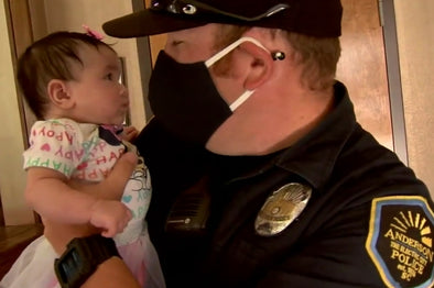 """Guardian Angel"" officer saves choking baby"