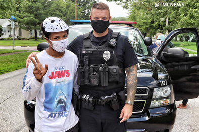 Police officer forms a special bond with teen and his family