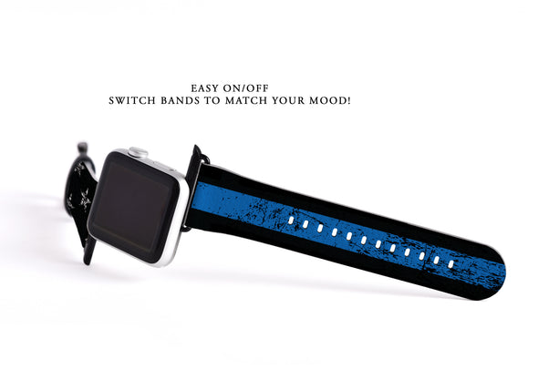 Thin blue line flag apple watch band