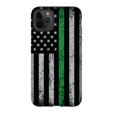 Thin green line phone case