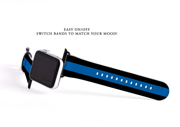 Thin Blue Line Apple Watch band