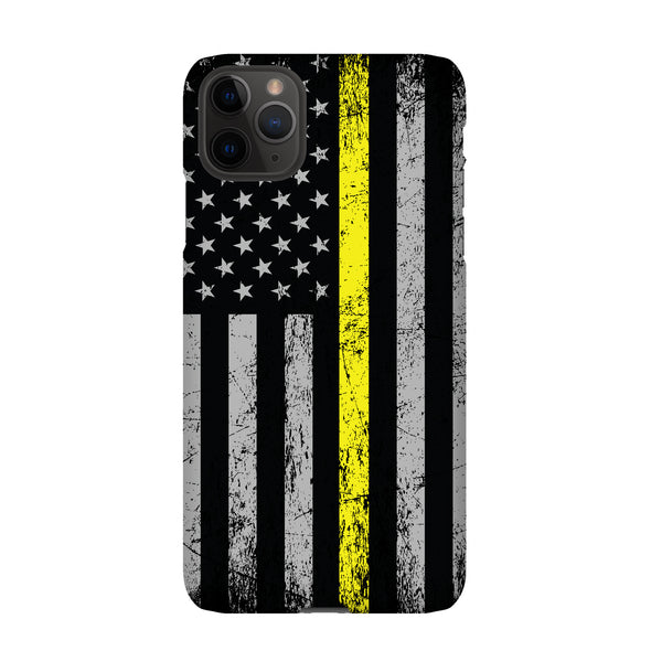 Thin yellow line phone case for iphone and samsung phones