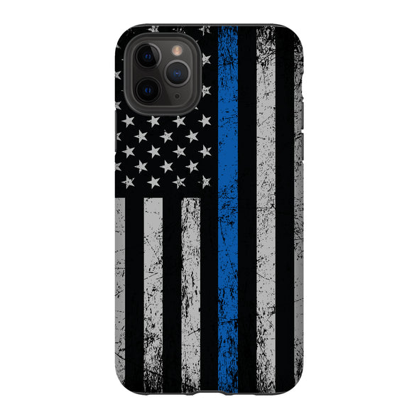 Thin Blue Line Police Phone case. Tough protection for your iPhone or Samsung Phone Case